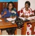 Mme Fatou Kiné Camara, Professeure de droit délivrant sa communication